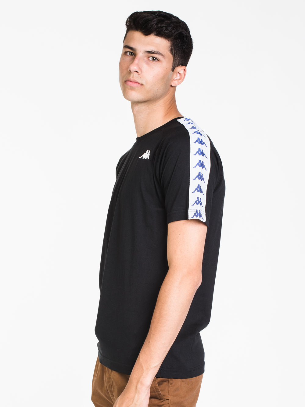 MENS BANDA COEN SLIM SHORT SLEEVE T-BLK/BLU