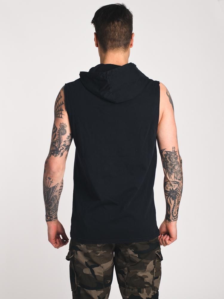 MENS WASHED HOODIEED TANK- CLEARANCE