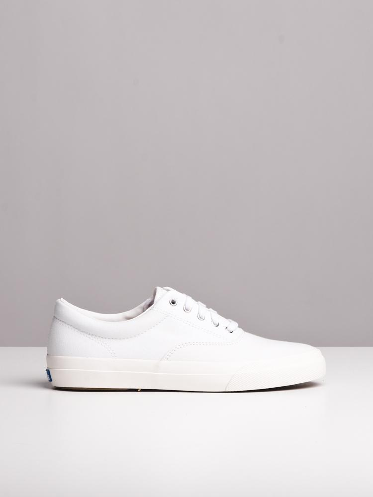 WOMENS ANCHOR CANVAS WHITE CANVAS SHOES- CLEARANCE