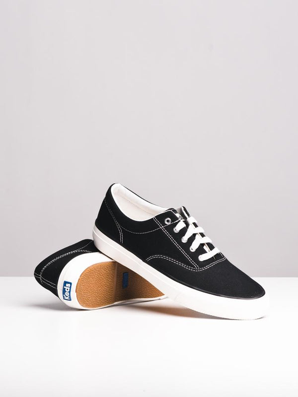 WOMENS ANCHOR CANVAS BLACK CANVAS SHOES- CLEARANCE