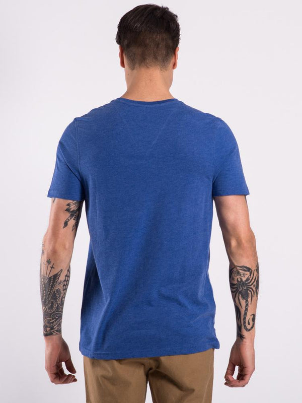 MENS BASIC VNECK - TROPICAL BLUE
