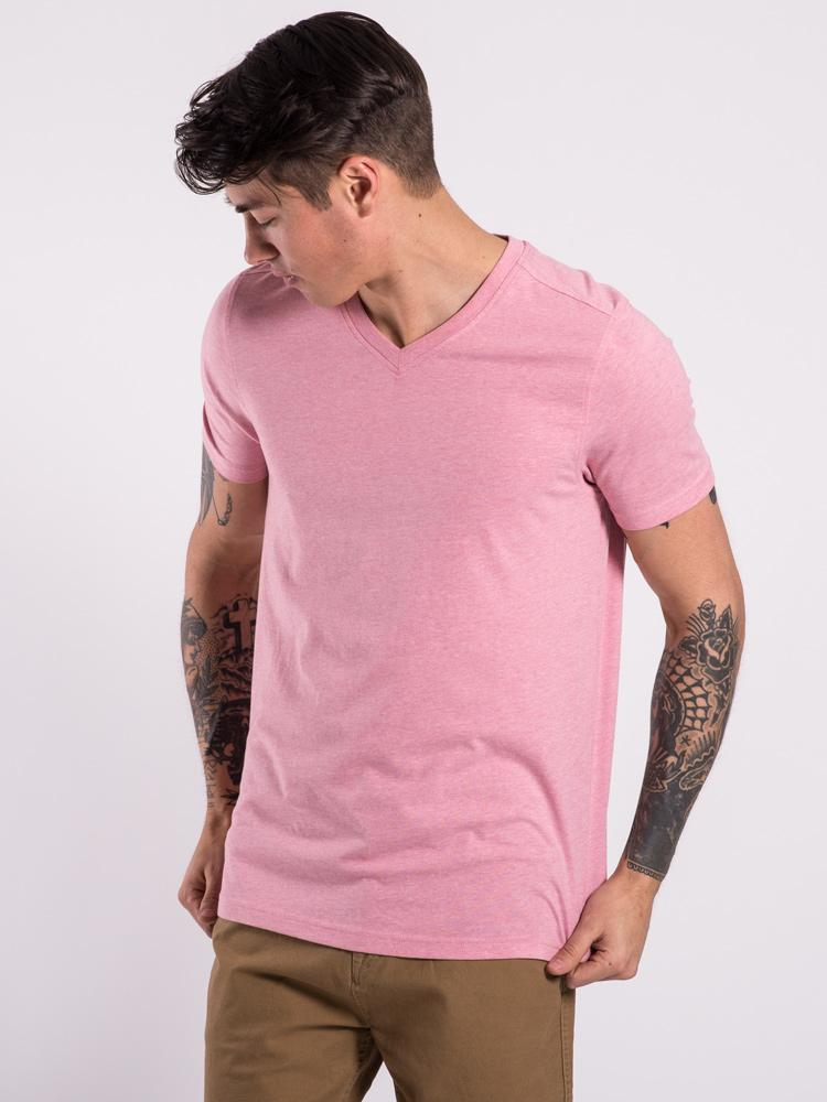 MENS BASIC VNECK - LIGHT PINK