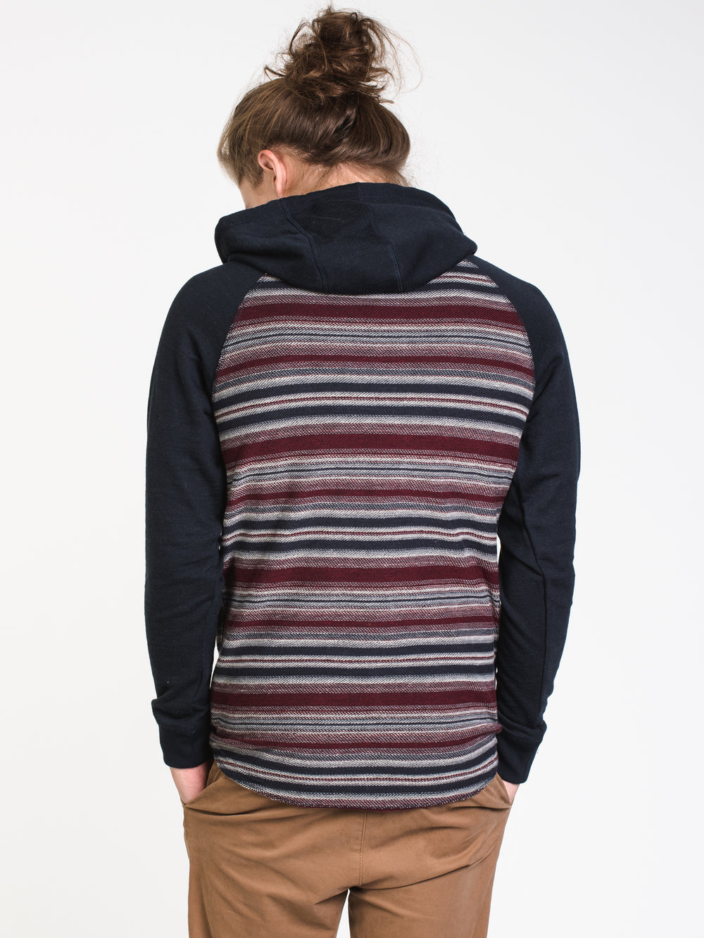 MENS MARCO STRIPED HENLEY HOODIE