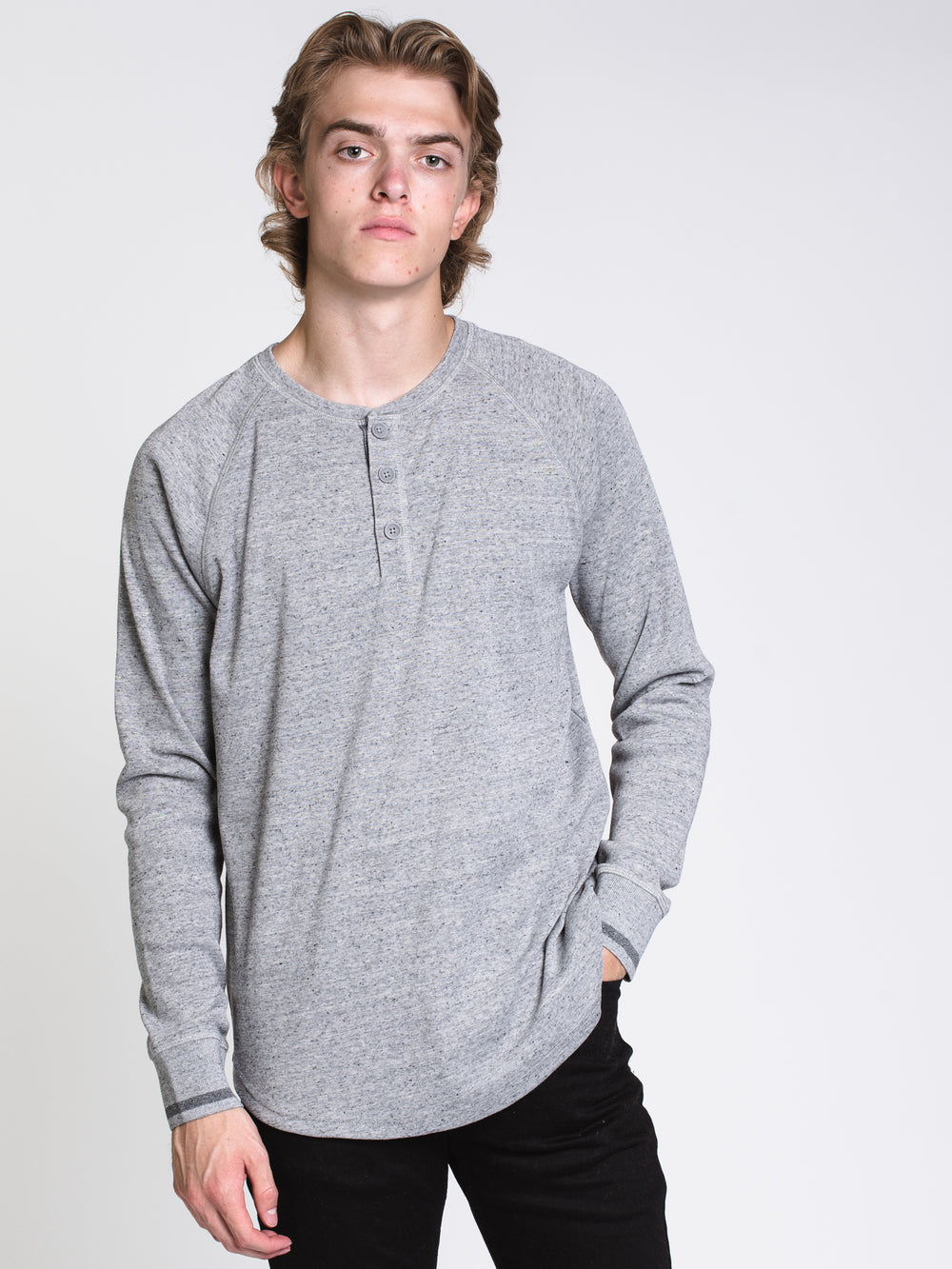 MENS LUCA LONG SLEEVE HENLEY