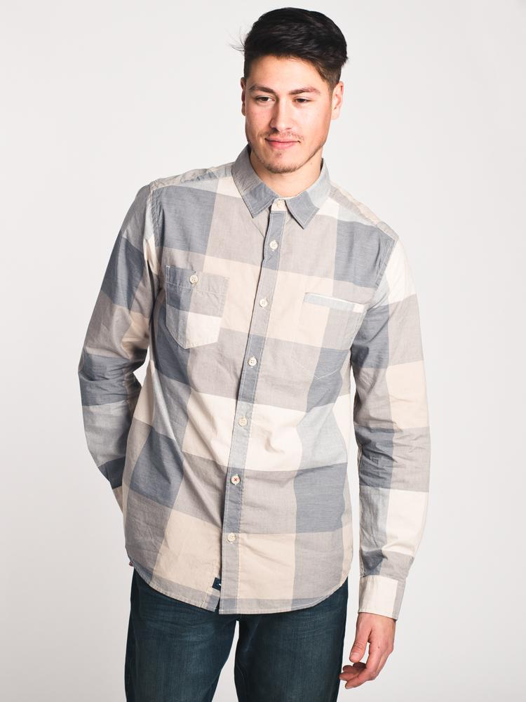 MENS BRAM CHECK BUTTONUP- CLEARANCE