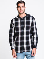 MENS CLASSIC HOODED PLAID