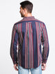 MENS VERTICAL STRIPE BUTTONUP
