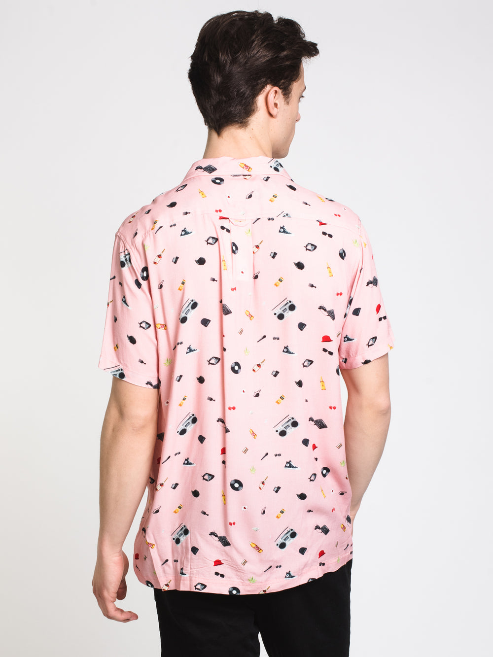 MENS RAYON CAMP SHIRT