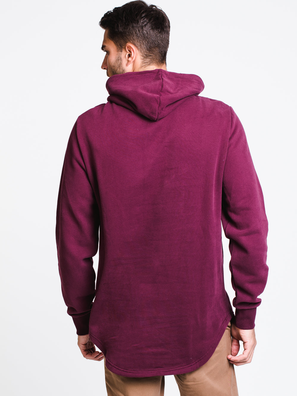 MENS WASHED OUT LONGLINE HOODIE