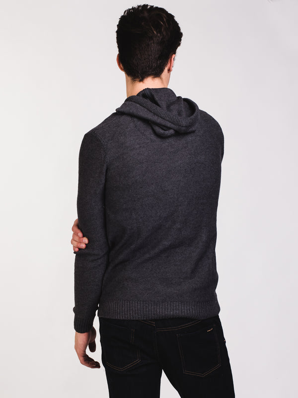 MENS CROCKETT HENLEY HOODY