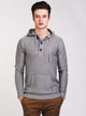 MENS CROCKETT HENLEY HOODY - CLEARANCE