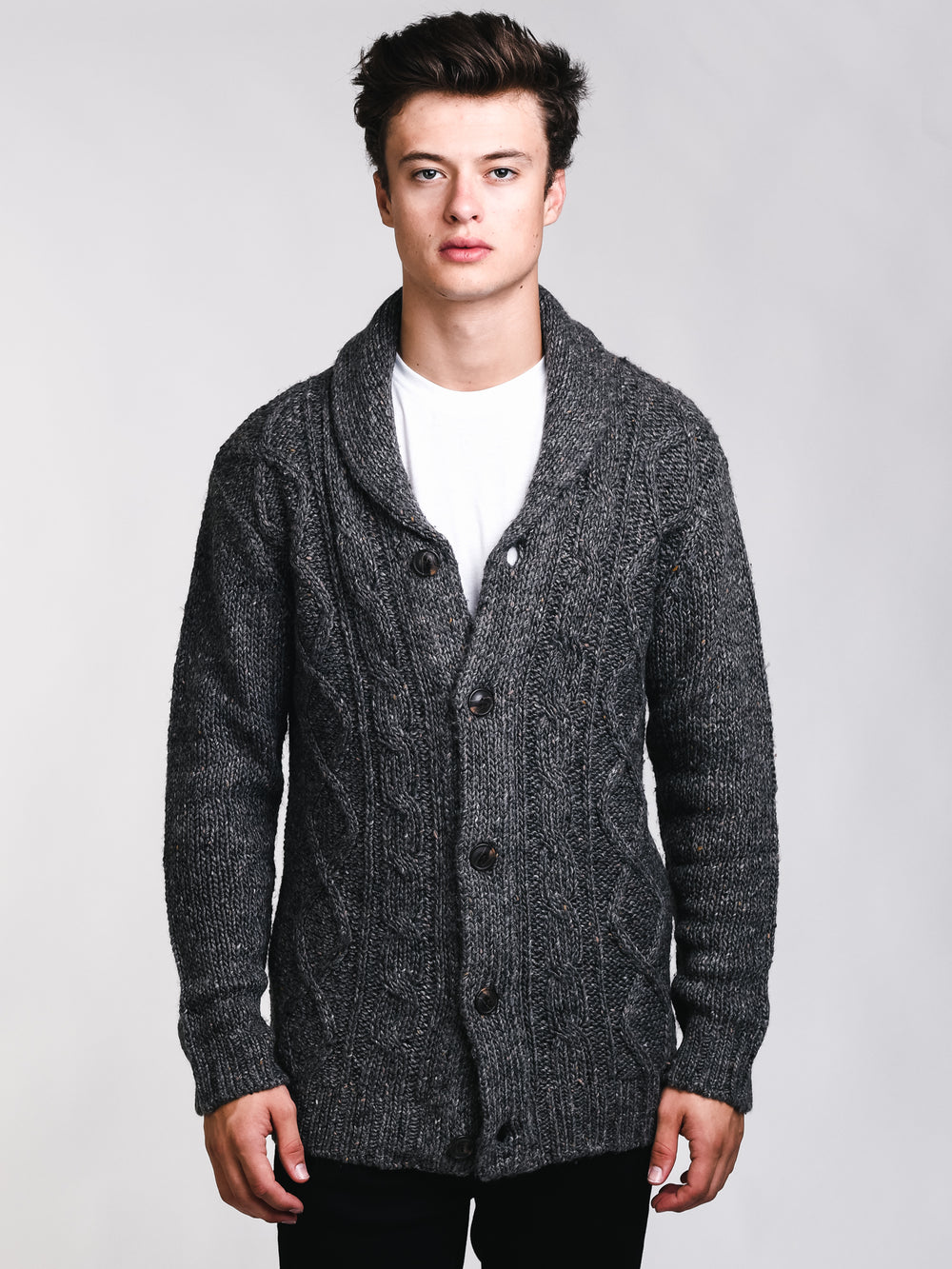 MENS CURTIS CABLE CARDIGAN - CLEARANCE