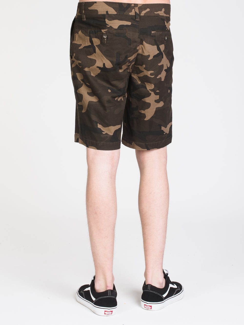MENS CALEB SLIM CAMO PRINT SHORT