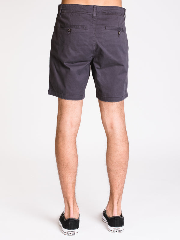 MENS SLOAN 7in SLIM SOLID - CHAR