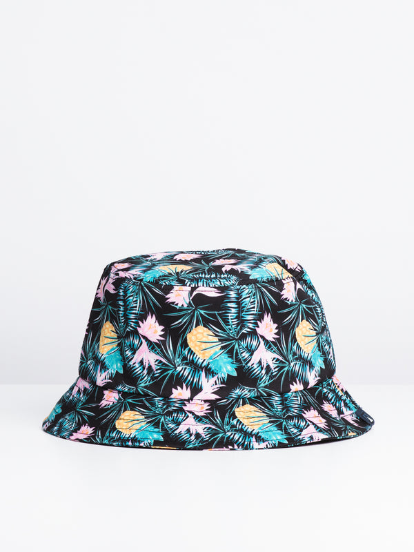 PINEAPPLE BUCKET HAT - BLACK
