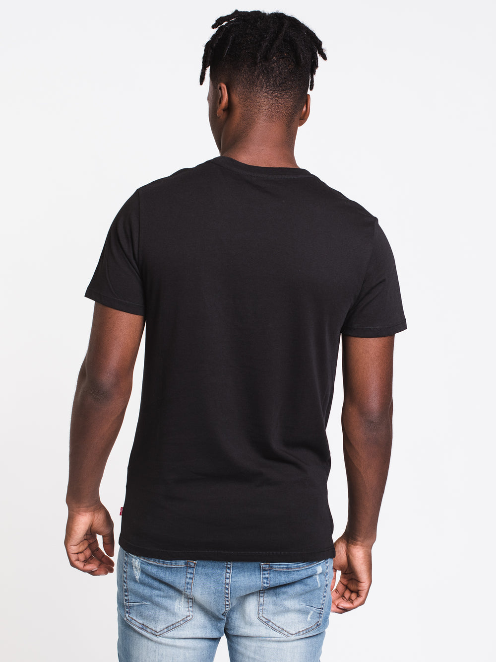 MENS GRAPHIC SET IN SHORT SLEEVE T - BLACK