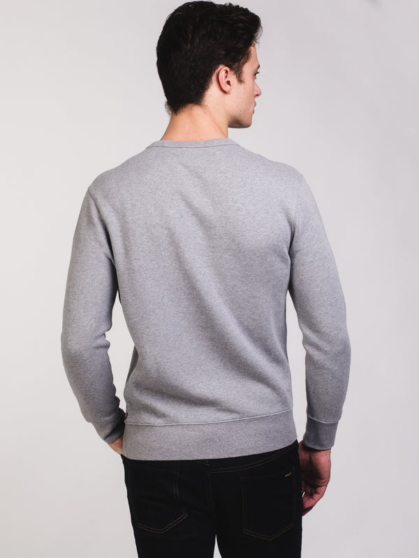 MENS HM FLEECE CREW - GRY