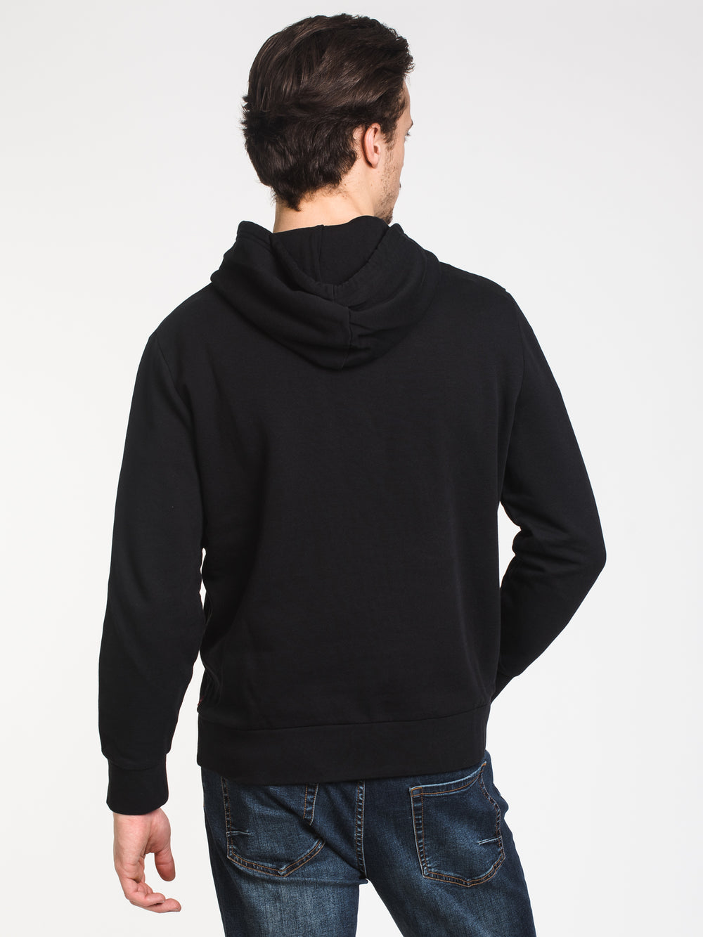 MENS GRAPHIC PULLOVER HOODIE - BLACK