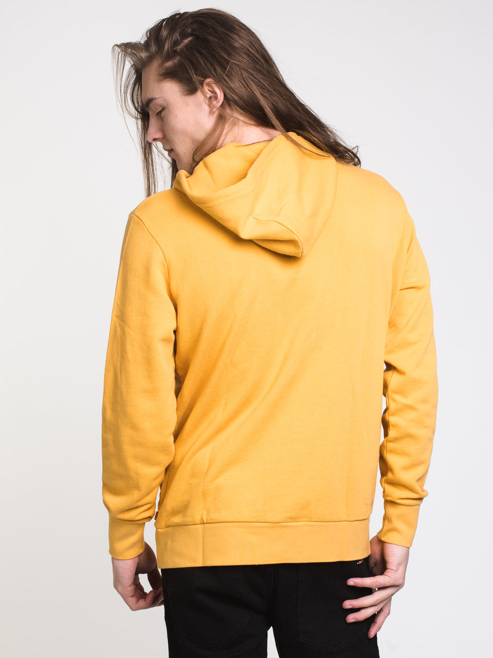 MENS GRAPHIC SERF PULLOVER HOODIE - APRICOT