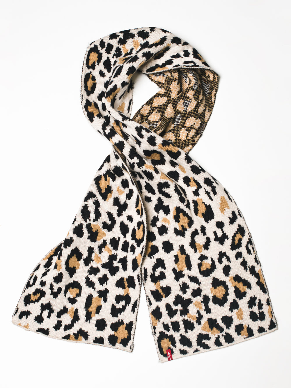 LEOPARD SCARF - LIGHT BROWN