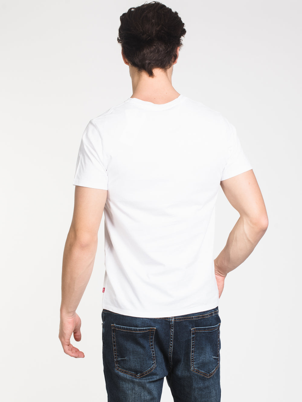 MENS SPORTWEAR LOGO SHORT SLEEVE T-SHIRT- WHITE