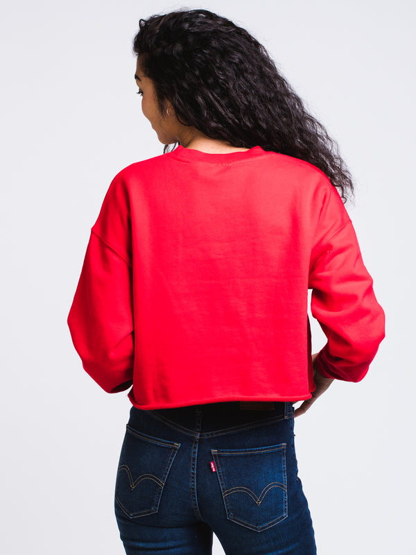 WOMENS GRAPHICIC RAWCUT CREW - RED