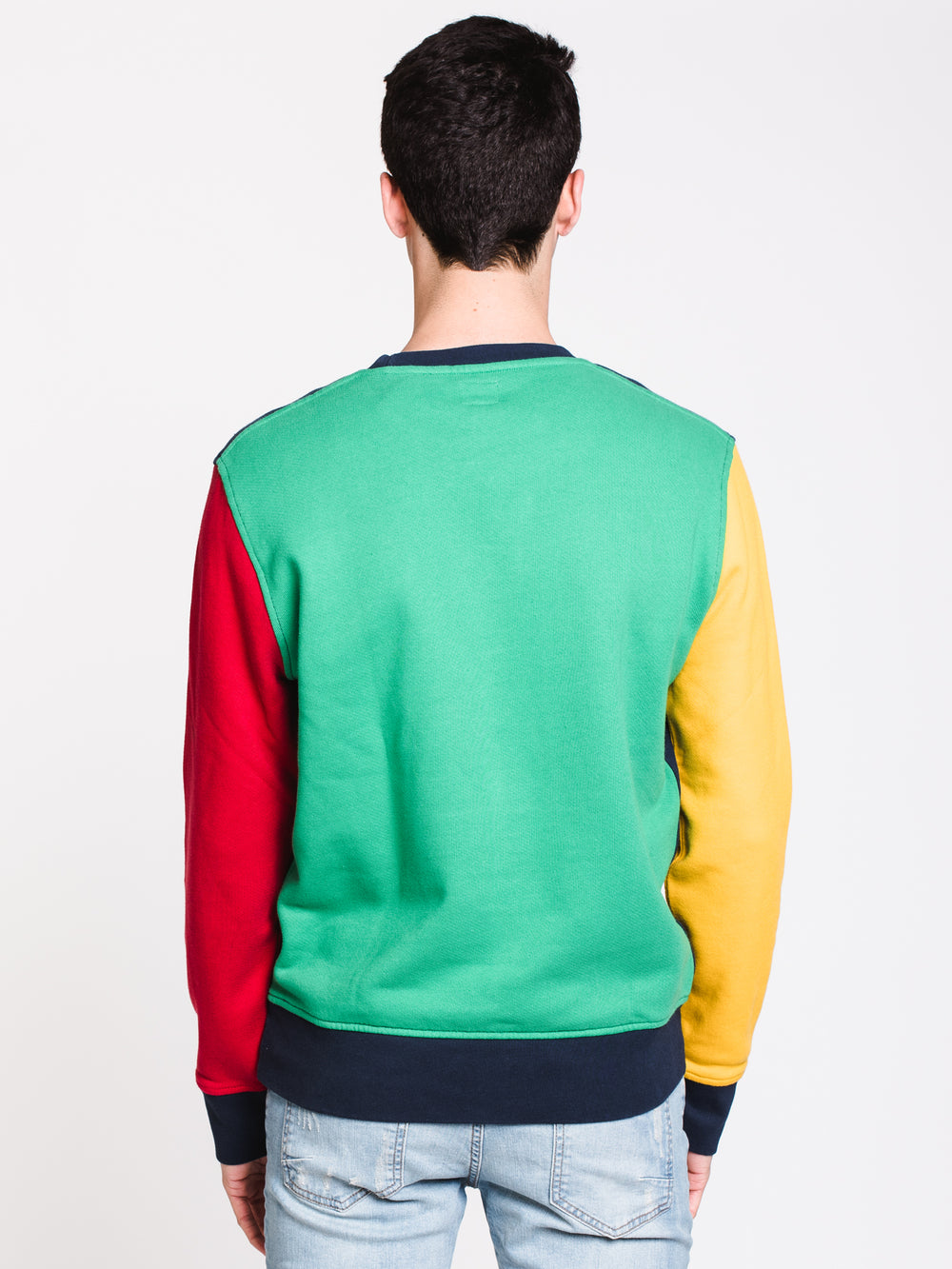 MENS HM COLORBLOCK CREW - NVY