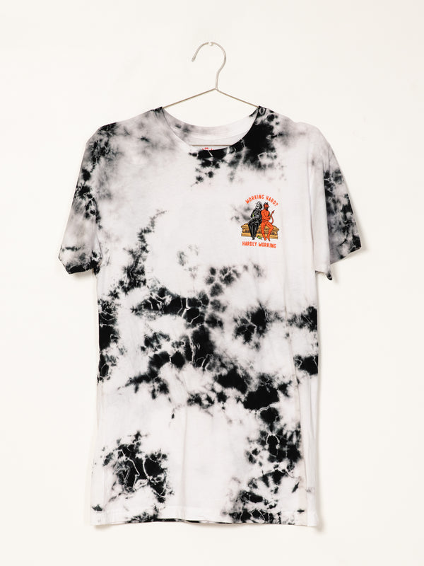 MENS HARDLY WORKING S/S T - TIE DYE