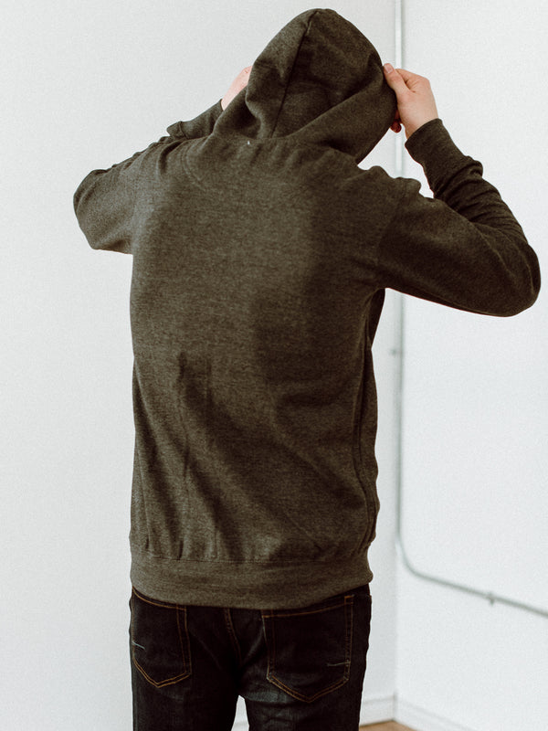 MENS CLASSIC PULLOVER HOODY - CHARCOAL