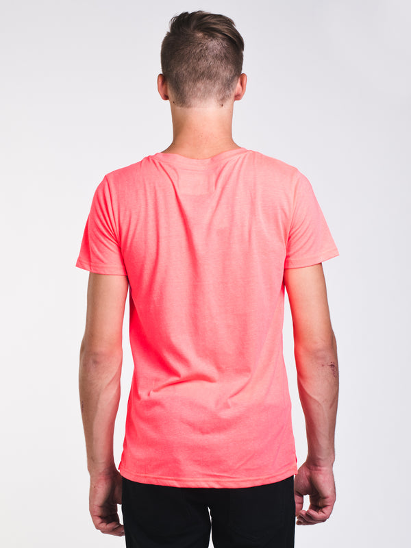 MENS RETRO SHORT SLEEVE T-SHIRT - NEON PINK
