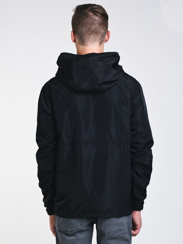 MENS ANORAK PULLOVER JACKET - BLACK