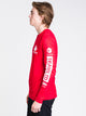MENS DEEP SPACE LONG SLEEVET-SHIRT- SOLID RED