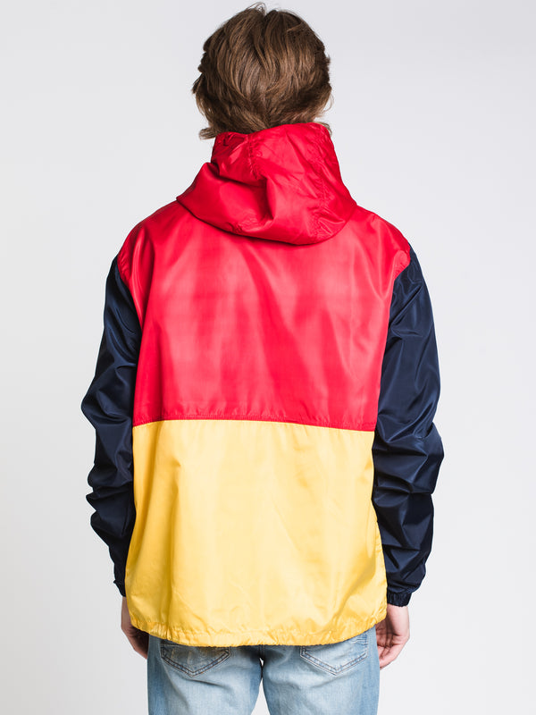 MENS ANORAK PULLOVER JACKET - COLOURBLOCK