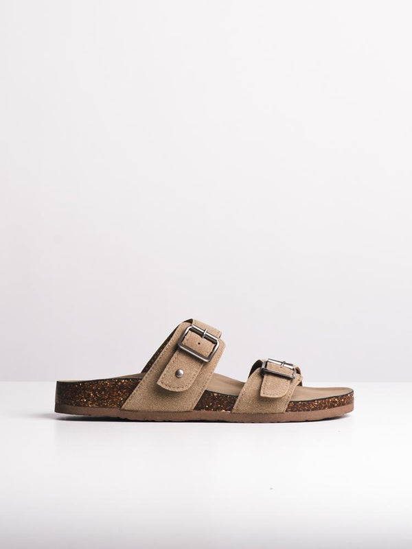 WOMENS BRANDO TAUPE MICRO SANDALS