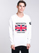 MENS MONDETTA GB CREW - WHITE - CLEARANCE