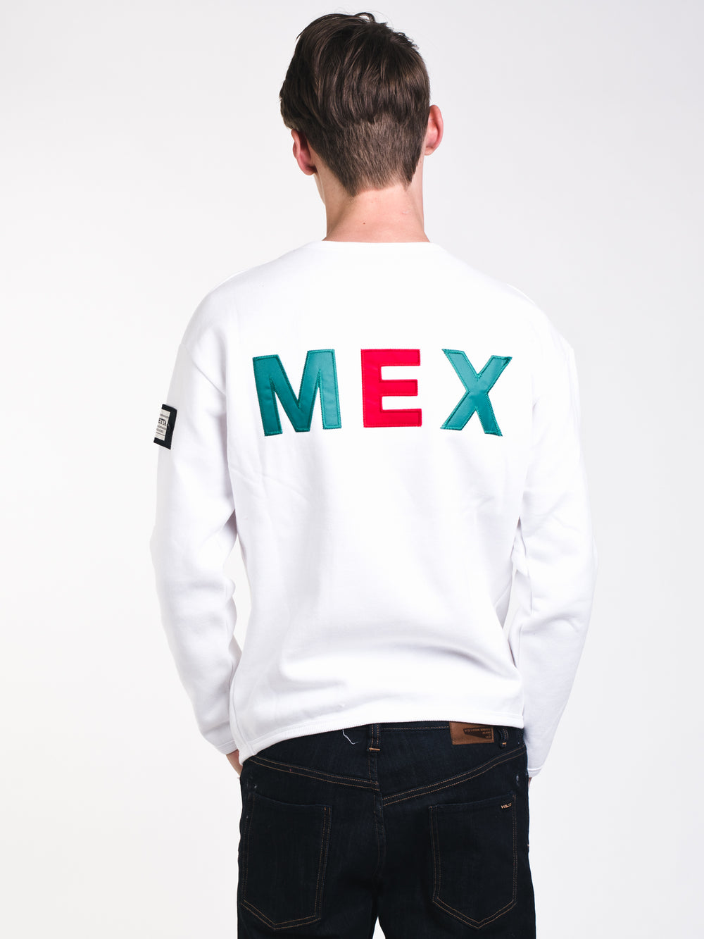 MENS MONDETTA MEXICO CREW - WHITE