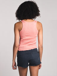 WOMENS LEAH SHIRRED TANK