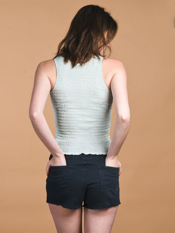 WOMENS LEAH SHIRRED TANK- CLEARANCE