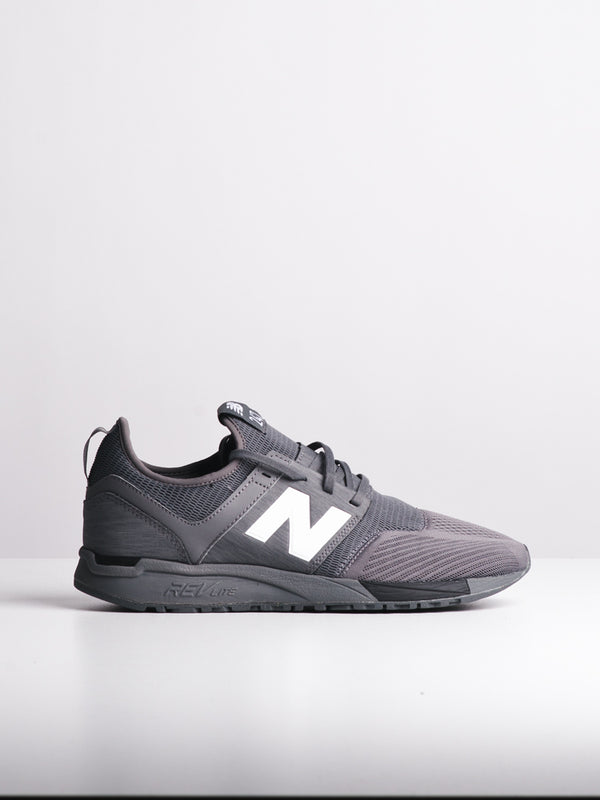 MENS 247 MESH GREY/BLACK SNEAKERS- CLEARANCE