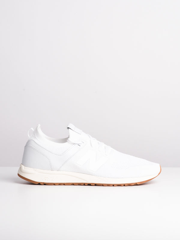 MENS 247 DECON WHITE SNEAKERS- CLEARANCE