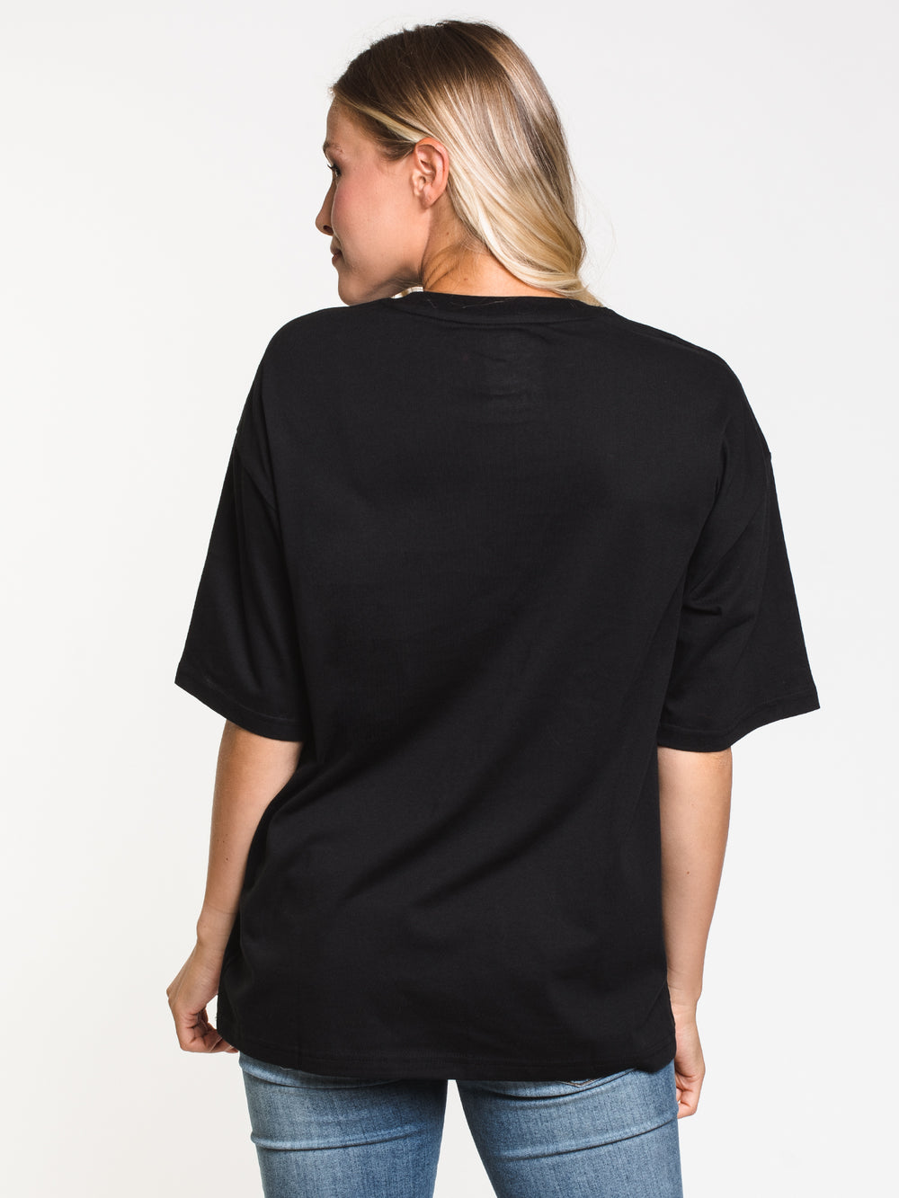 WOMENS NB VIL STACKED SHORT SLEEVE T-SHIRT - BLACK