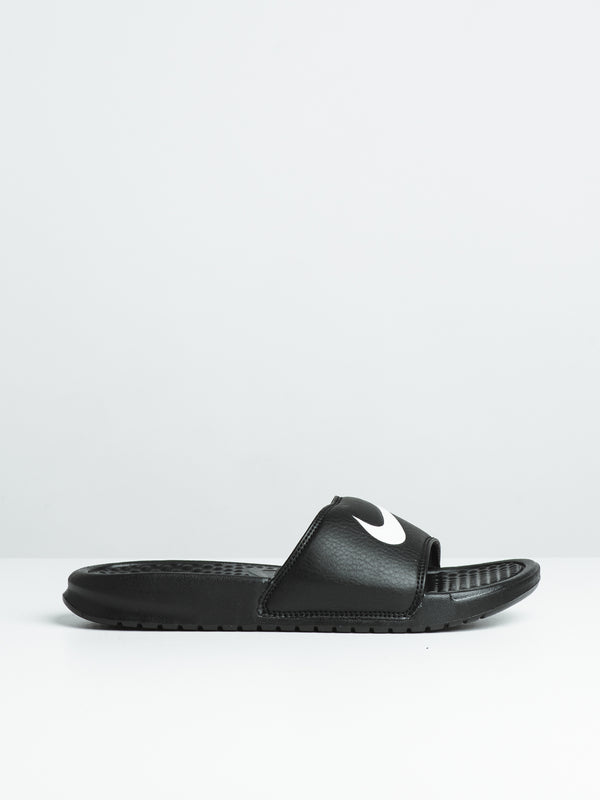 WOMENS BENASSI SWOOSH - BLACK/WHITE