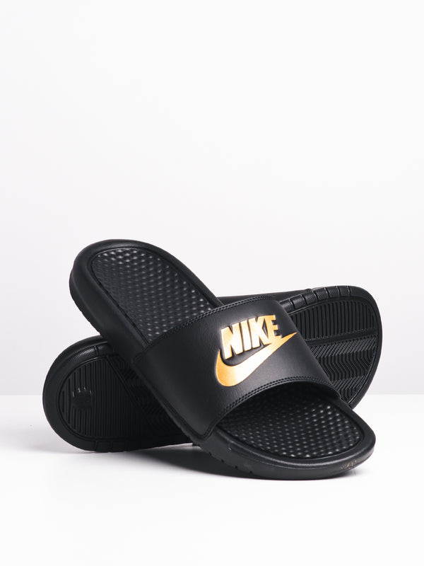 MENS BENASSI JDI BLACK/GOLD SANDALS