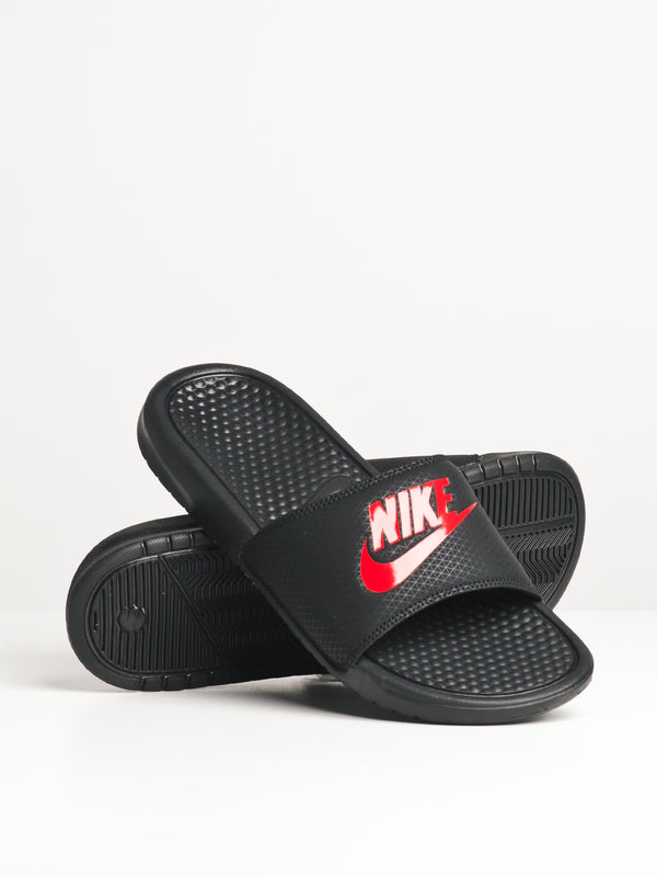 MENS BENASSI JDI BLACK/RED SANDALS