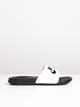 MENS BENASSI JDI WHITE/BLACK SANDALS