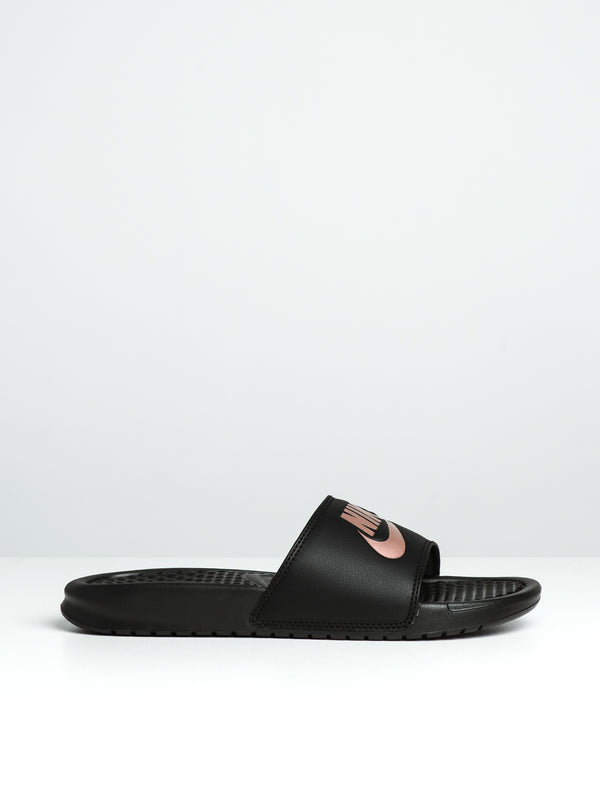 WOMENS BENASSI JDI BLACK/ROSE SANDALS