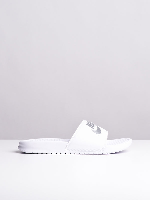 WOMENS BENASSI JDI WHITE/SILVER SANDALS