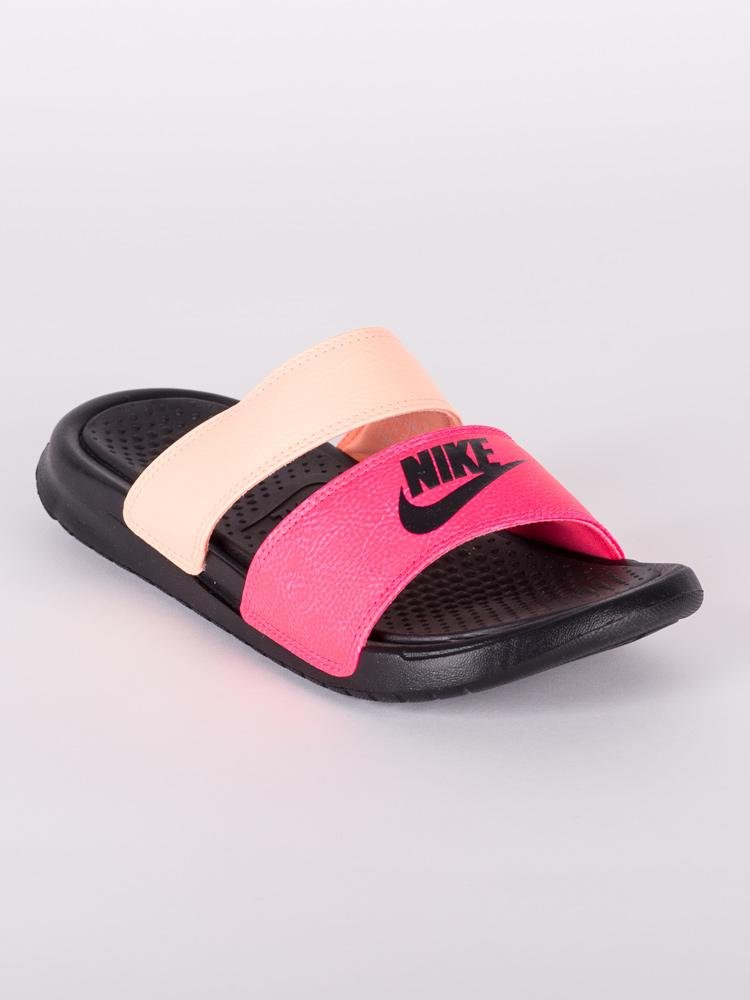 WOMENS BENASSI ULTRA DUO SLIDE PINK SANDALS- CLEARANCE