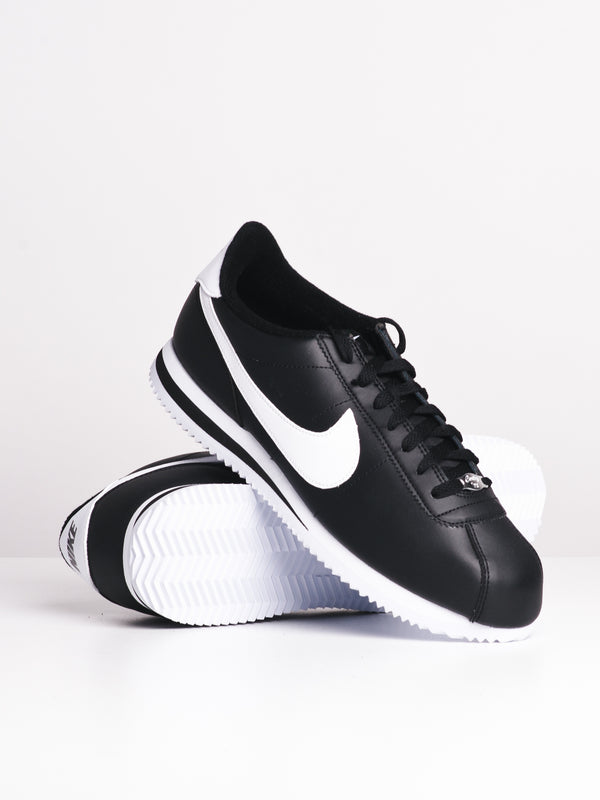 MENS CORTEZ BASIC LEATHER - BLK/WHT