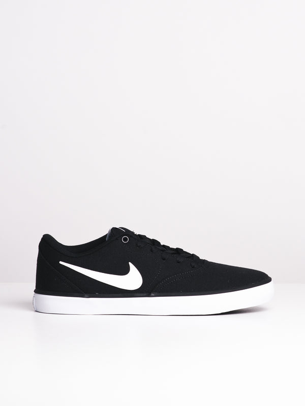 MENS SB CHECK CANVAS BLACK/WHITE SNEAKERS